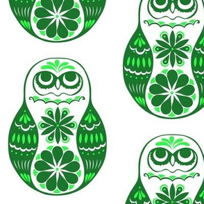 Flower Owls, Solo, in Green