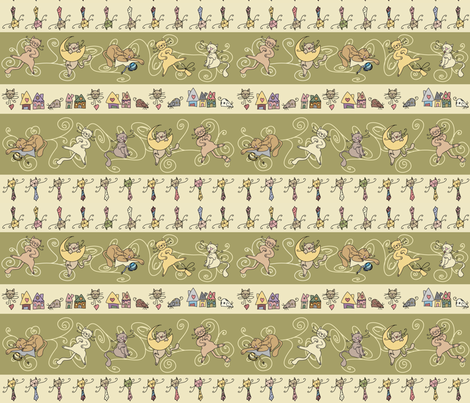 Cats fabric by catru on Spoonflower - custom fabric