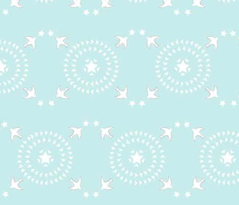 Spring Whimsy: Avian Astrology fabric by threeyellowplums on Spoonflower - custom fabric