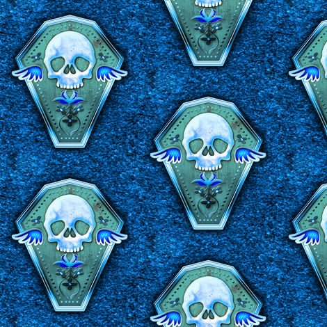 Coffin fabric by jadegordon on Spoonflower - custom fabric