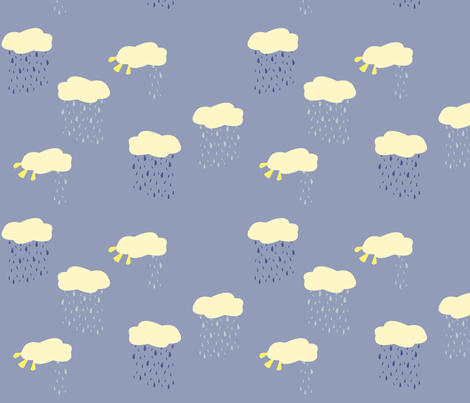 rain_and_sun_clouds2 fabric by featheredneststudio on Spoonflower - custom fabric