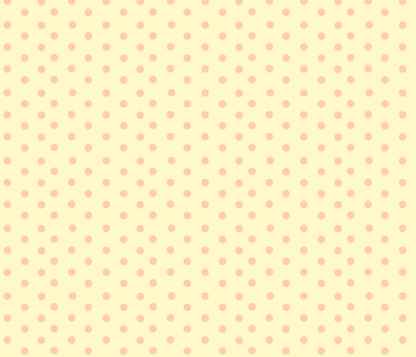 Petite Pink Polka Dot fabric by featheredneststudio on Spoonflower - custom fabric