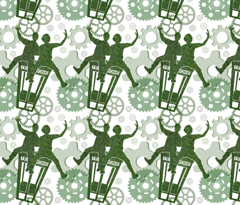 Bill and Ted fabric by jnifr on Spoonflower - custom fabric