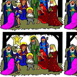 Nativity Scene (repeat, colored)