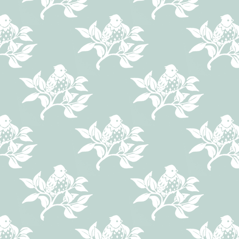 Bird in a Branch fabric by siya on Spoonflower - custom fabric