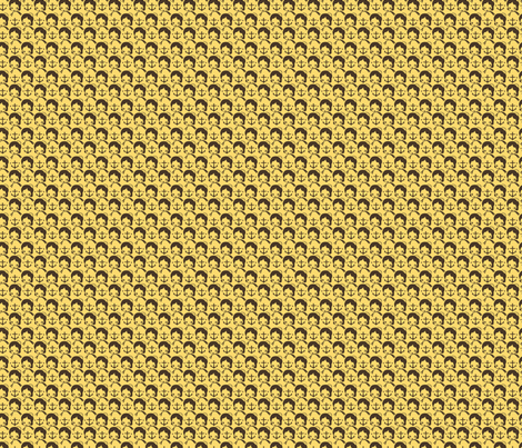 anchor_repeat_yellow fabric by milktooth on Spoonflower - custom fabric