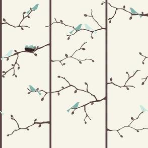 Bird Forest - Blue
