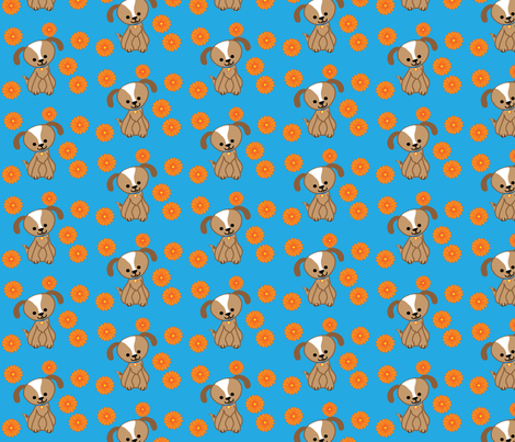 Daisy Mill Puppy Farm fabric by kiwicuties on Spoonflower - custom fabric