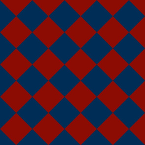 blue and red check