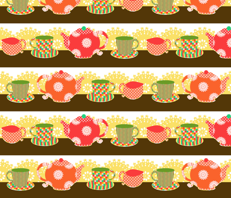 teatime fabric by lfntextiles on Spoonflower - custom fabric