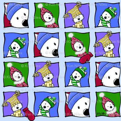 Whimsical Winter Westies