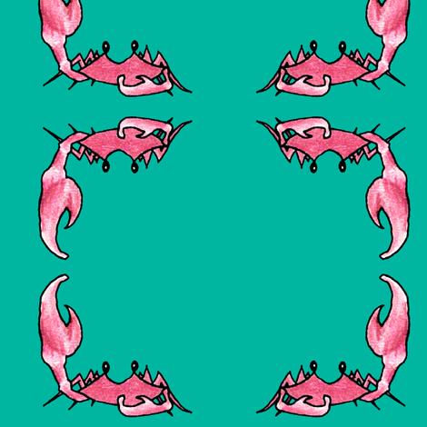Crab Corners fabric by pond_ripple on Spoonflower - custom fabric