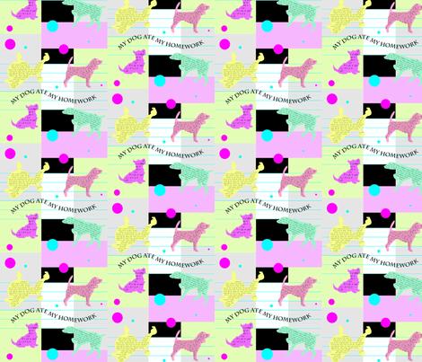MyDogAteMyHomework fabric by Clothdog on Spoonflower - custom fabric