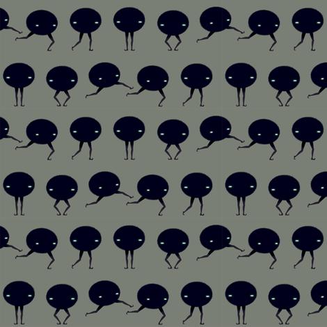 Fuzzy Plie fabric by beeskneesindustries on Spoonflower - custom fabric