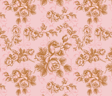 Brown flower(another version) fabric by blingmoon on Spoonflower - custom fabric