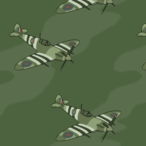 Spitfires fabric by felis_astrum on Spoonflower - custom fabric