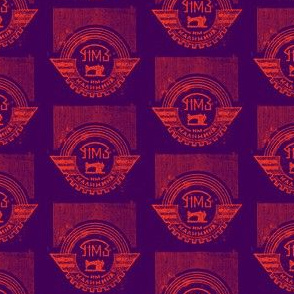 Purple Soviet Sewing Machine