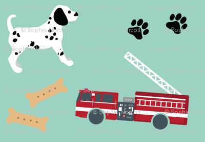 Fire Trucks and Dalmatian Puppies