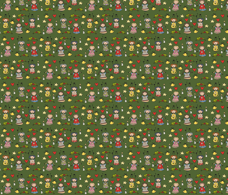 Little xmas angels  fabric by catru on Spoonflower - custom fabric