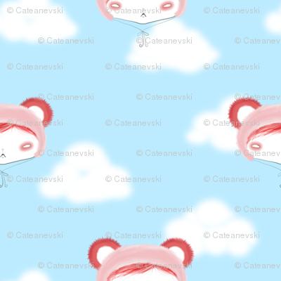 Strawberry Panda Hat