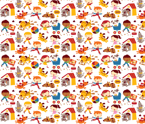 Dog fun! fabric by bora on Spoonflower - custom fabric