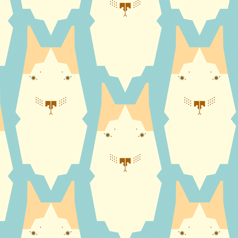 Southwest Nayla Dog fabric by easykeeper on Spoonflower - custom fabric
