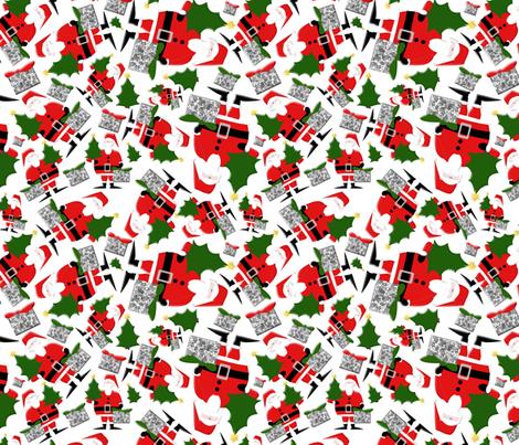 Ho Ho Ho  fabric by poetryqn on Spoonflower - custom fabric
