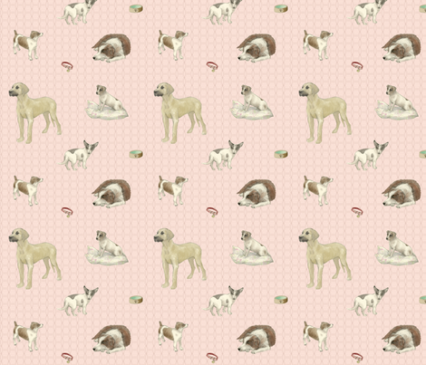 Dogs are the Best People fabric by bee&lotus on Spoonflower - custom fabric