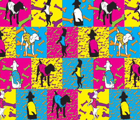 Pop Dogs fabric by majobv on Spoonflower - custom fabric