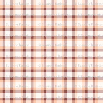 pink and brown plaid