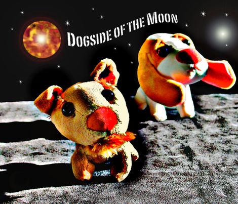 DOGSIDE OF THE MOON fabric by justa_chicklet on Spoonflower - custom fabric