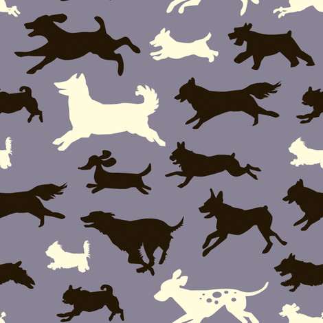 Every Dog Has Its Day - Purple fabric by jenimp on Spoonflower - custom fabric