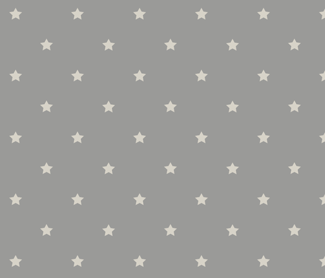 STARS_gray_white fabric by yvonne_herbst on Spoonflower - custom fabric