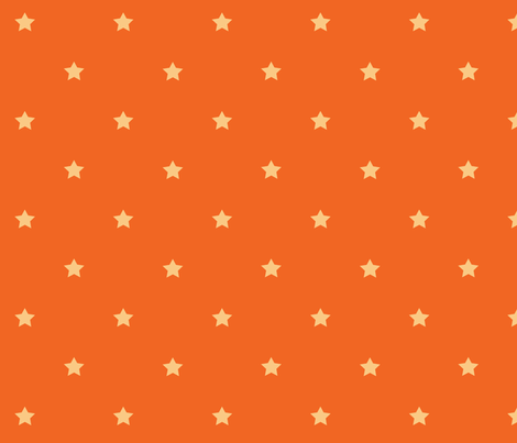 STARS_orange_cream fabric by yvonne_herbst on Spoonflower - custom fabric