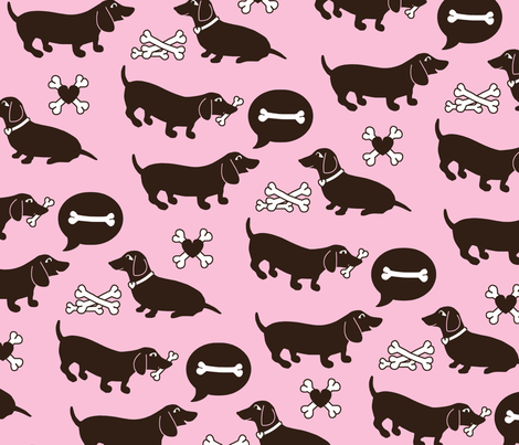 sausage dog print fabric by nadjagirod on Spoonflower - custom fabric