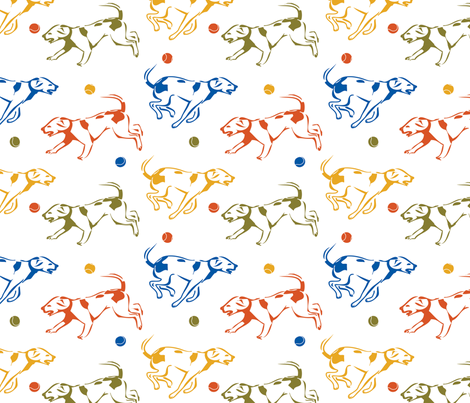 playful_dogs fabric by art-by-ara on Spoonflower - custom fabric