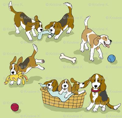 Beagle 'Dog-Ma' (green)