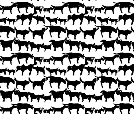 Dogs fabric by kimthings on Spoonflower - custom fabric