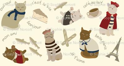 (Medium) French Cats in Paris