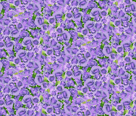 Abundant Roses - Blue Moon fabric by inscribed_here on Spoonflower - custom fabric