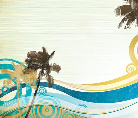 Palms fabric by kamiekazee on Spoonflower - custom fabric