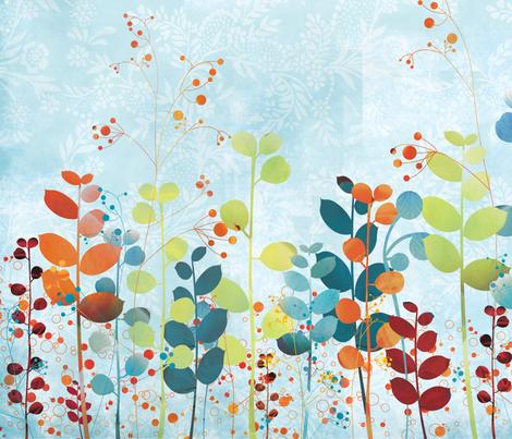 Swanky floral pattern fabric by kamiekazee on Spoonflower - custom fabric