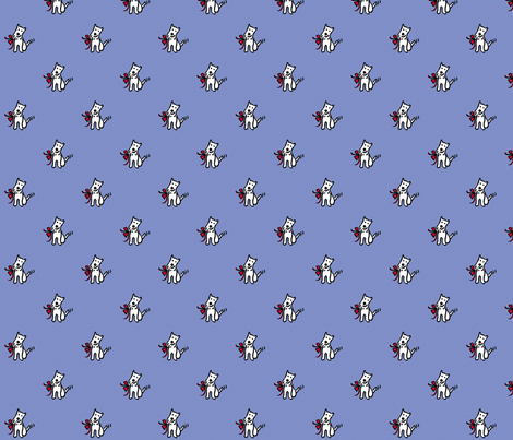 Beware of the Dog fabric by evamarion on Spoonflower - custom fabric
