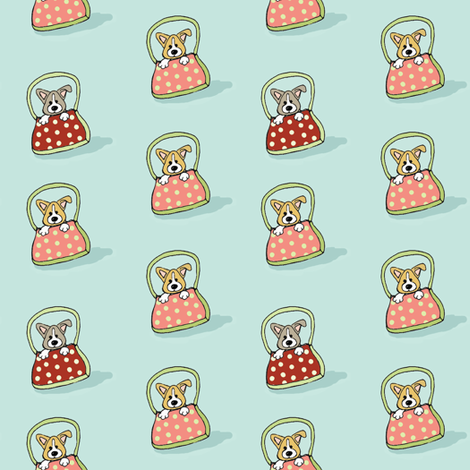 'Doggy Bags' fabric by hauteideas on Spoonflower - custom fabric