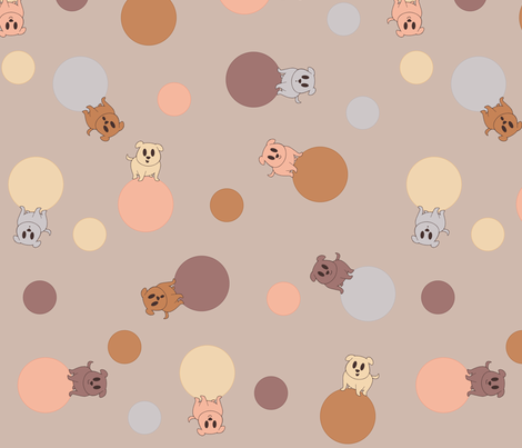 I See Spots (muted) fabric by leighr on Spoonflower - custom fabric