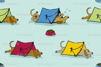 'Pup Tents'  2 (Let sleeping dogs lie.)