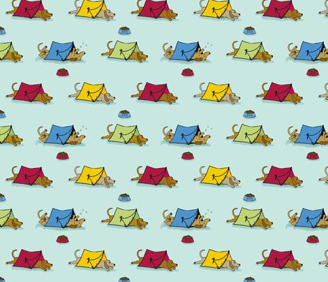 'Pup Tents'  2 (Let sleeping dogs lie.) fabric by hauteideas on Spoonflower - custom fabric