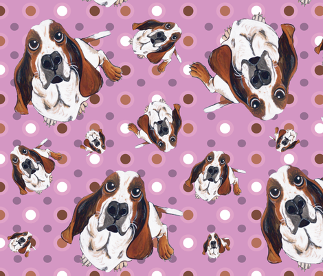 Basset Hound fabric by asilo on Spoonflower - custom fabric