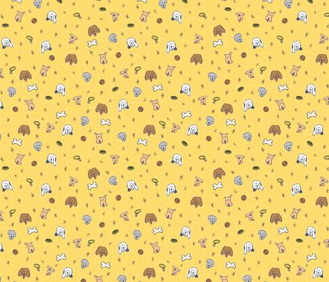 Just Dogs fabric by lulakiti on Spoonflower - custom fabric
