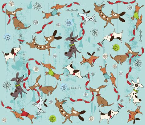 Dog Eat Dog fabric by cynthiafrenette on Spoonflower - custom fabric